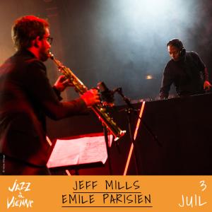 Jeff Mills Emile Parisien Jazz à Vienne 3 juillet 2017
